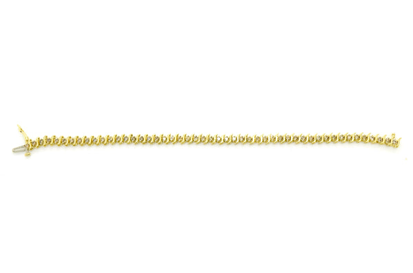 10k Yellow Gold Round Diamond 5 mm Tennis Bracelet - 1.50 ct. total - 7.5 in.