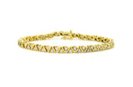 14k Yellow Gold Round Diamond 5 mm Tennis Bracelet - 3.00 ct. total - 7.25 in.