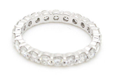 Platinum Round Diamond Eternity 2.9 mm Band Ring - 2.00 ct. - Size 6.5