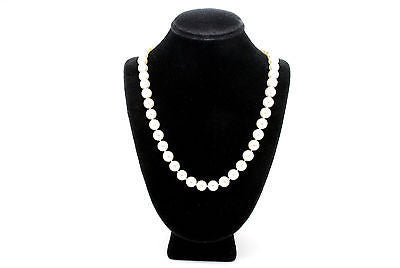 Lovely Graduated Pearl Strand Necklace - 14k White Gold Clasp - 17 In. Long