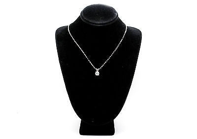 14k White Gold Diamond Four Prong Solitaire Necklace - .53 ct. J-K / SI1 - 18 in