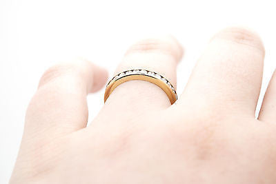 18k Yellow Gold Channel Round Diamond Eternity Ring - 1.00 ct. total - Size 6.25
