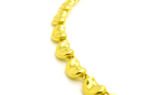 Tiffany & Co. Elsa Peretti 18k Yellow Gold Continuous Bean Necklace - 14.75 in.