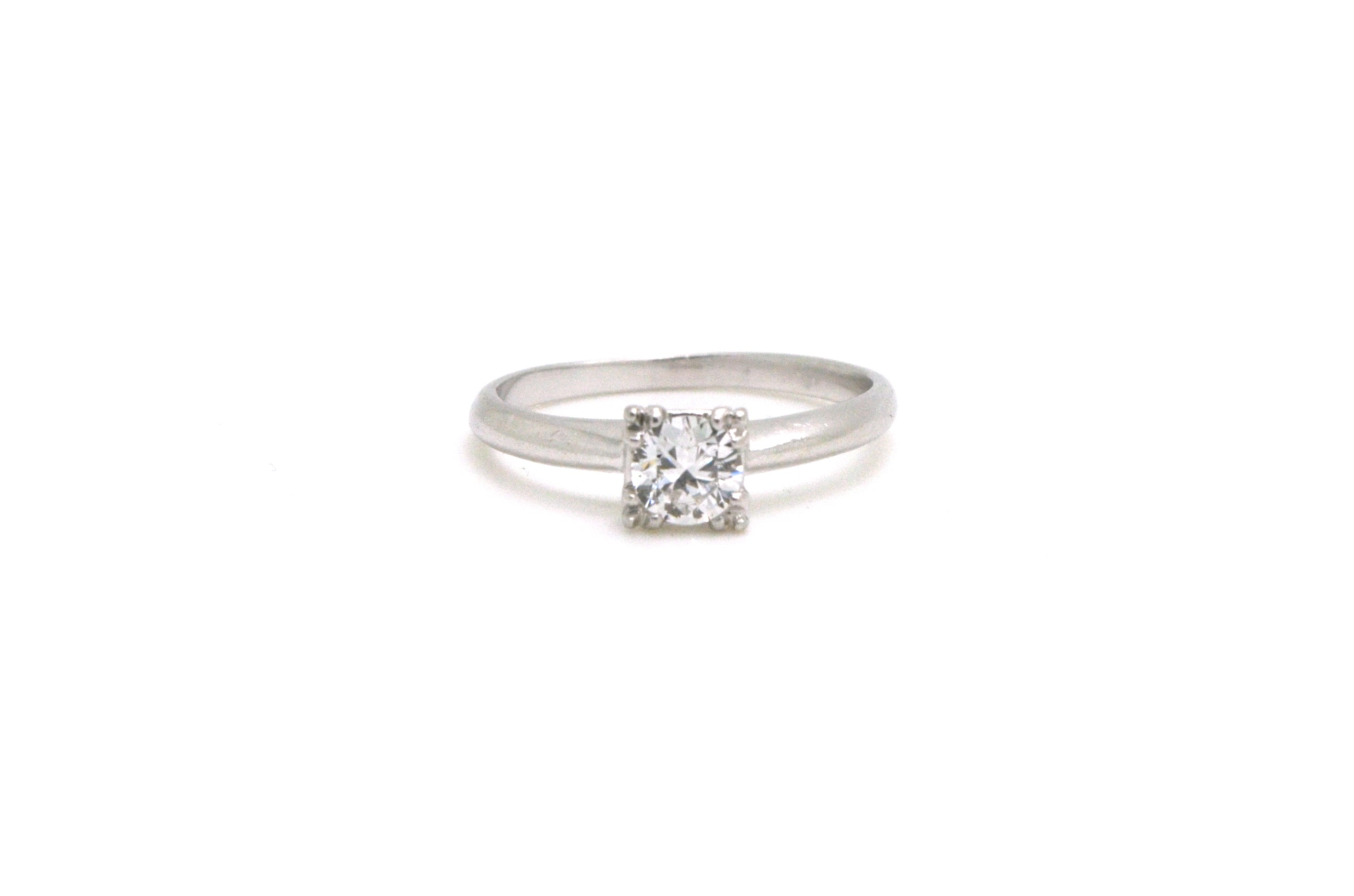 paris b pave solitaire ring platinum engagement michael diamond