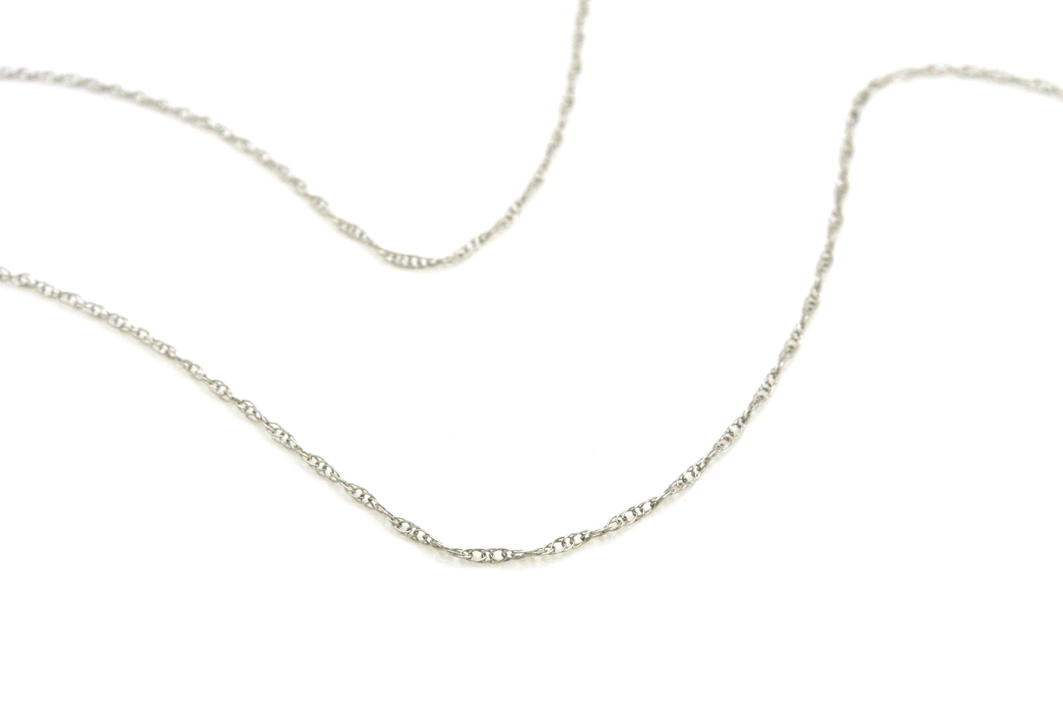 14k White Gold Seven Round Diamond Journey Necklace - .75 ct. total - 18 in.