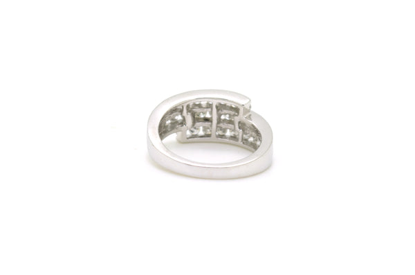 14k White Gold Diamond Three-Tiered Band Ring - 1.00 ct. total - Size 7