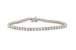 14k White Gold Round Diamond Traditional Tennis Bracelet - 7.50 ct. tw - 7 in.