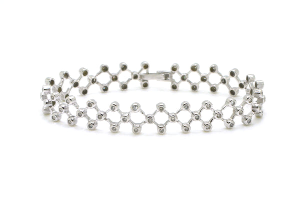 14k White Gold Diamond Criss Cross Tennis Bracelet - 1.00 ct. total - 6.75 in.