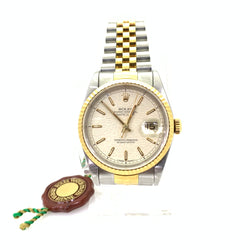 Rolex Datejust 16233 18k and Stainless Steel Watch 36mm