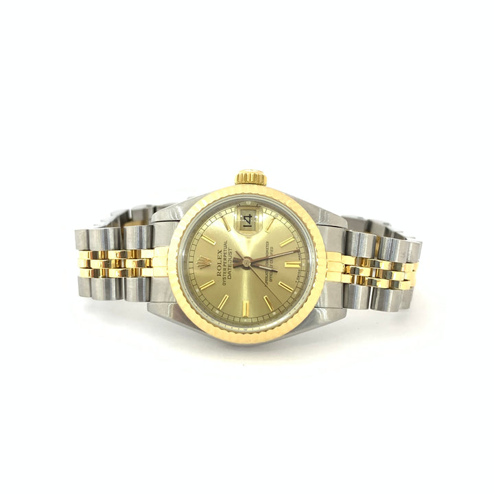 Rolex Oyster Datejust 69173 Jubilee 18K and Stainless Steel Ladies Watch 26mm