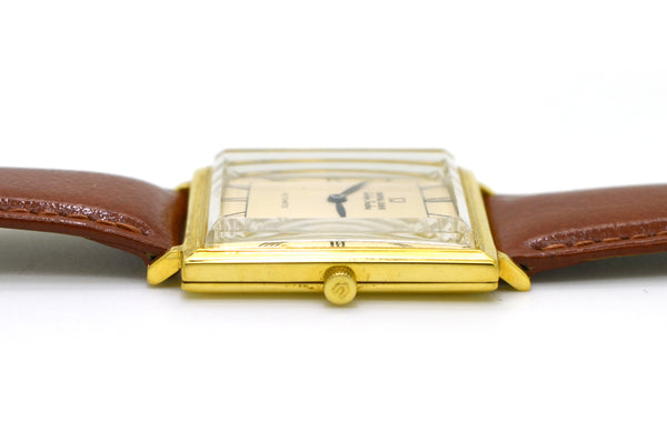 Vintage 18k Yellow Gold Universal Geneve Golden Shadow Automatic 25 Jewels Watch