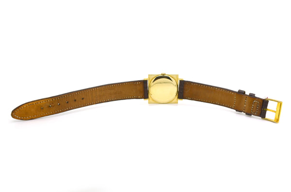 Vintage 14k Yellow Gold Hamilton Hand-Wound Watch - Leather Strap - 17 Jewels