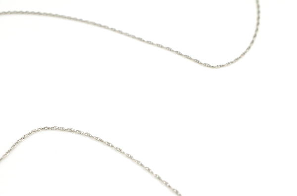 10k White Gold Diamond & Sapphire Pendant Necklace - 18 in. - .65 ct. total