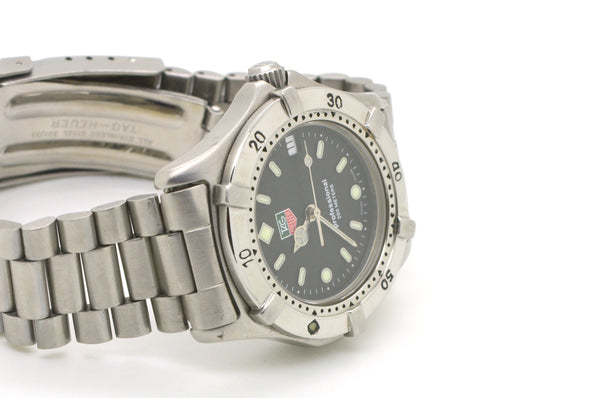 Tag Heuer Stainless Steel Professional Date Quartz Watch - Gray Dial - WE1210-R
