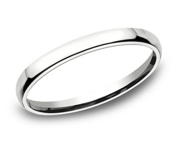 European Comfort Fit Benchmark Wedding Band (White Gold 3.5 mm)