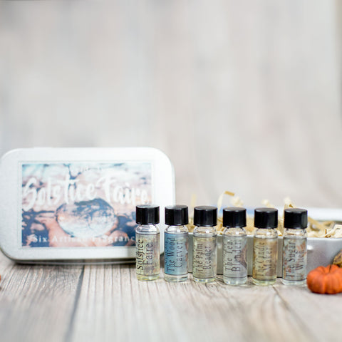 Solstice Faire Collection Perfume Oils Sample Gift Set