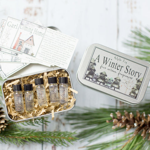 A Winter Story Collection Perfume Oil Sampler Gift Set