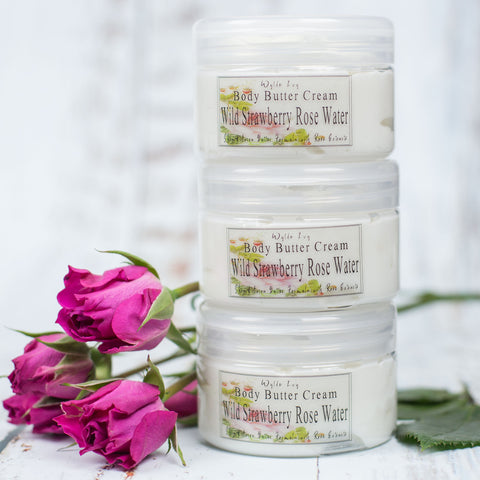 Wild Strawberry Rose Water Body Butter Cream