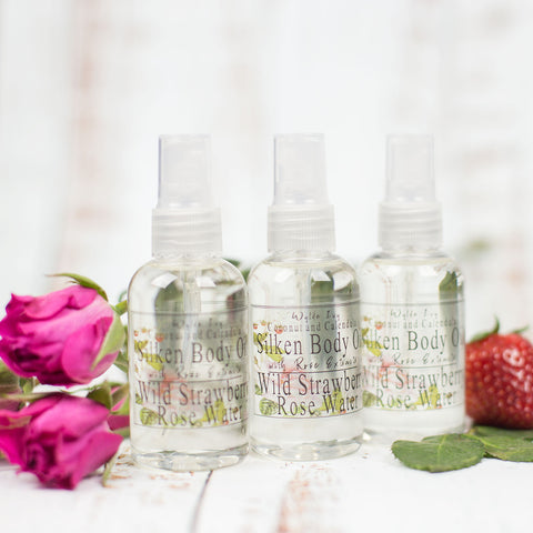 Wild Strawberry Rose Water Natural Body Oil