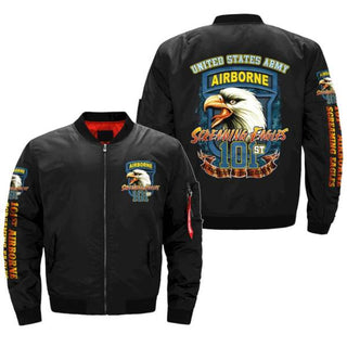 101ST AIRBORNE, SCREAMING EAGLES BOMBER JACKET