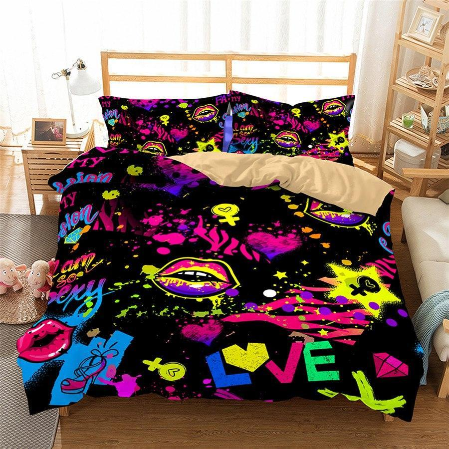 3D Bedding Set sexy Love Touch Print 1