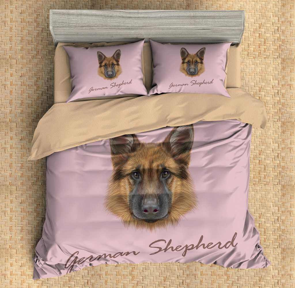 3D CUSTOMIZE GERMAN SHEPHERD BEDDING SET DUVET COVER SET BEDROOM SET BEDLINEN