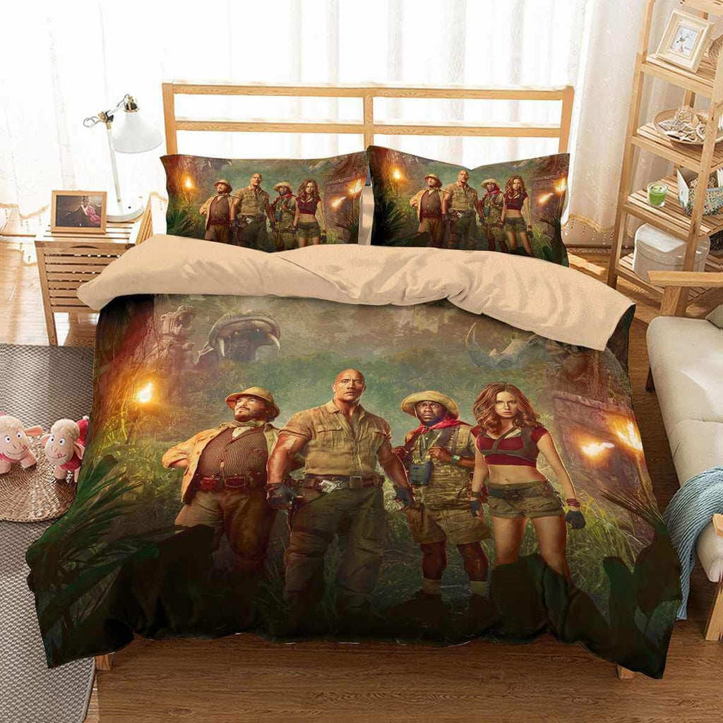 3D CUSTOMIZE JUMANJI BEDDING SET DUVET COVER SET BEDROOM SET BEDLINEN