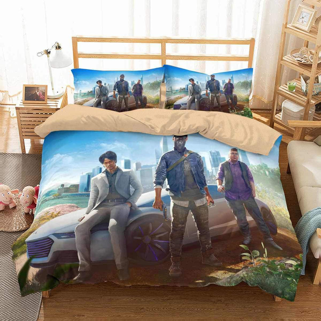 3D CUSTOMIZE WATCH DOGS 2 BEDDING SET