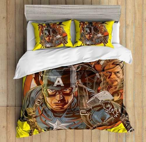 3D Custom Avengers Bedding Set Duvet Cover Set Bedroom Set Bedlinen