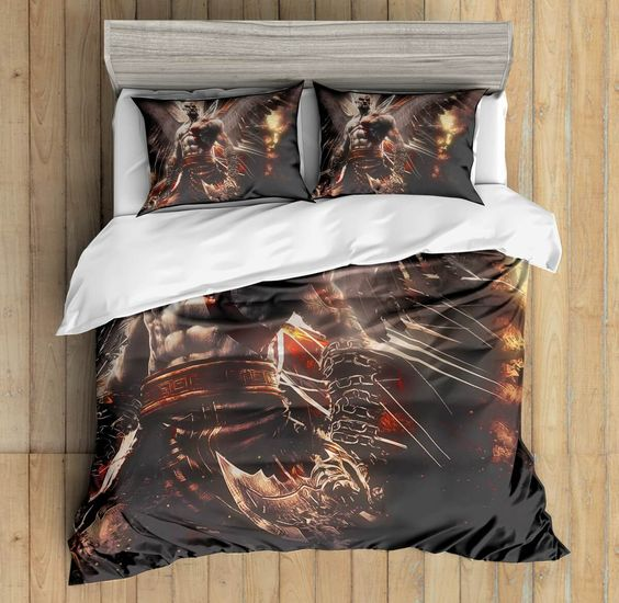 3D Custom God Of War Bedding Set