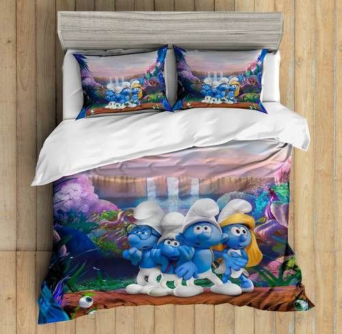 3D Custom The Smurfs Bedding Set