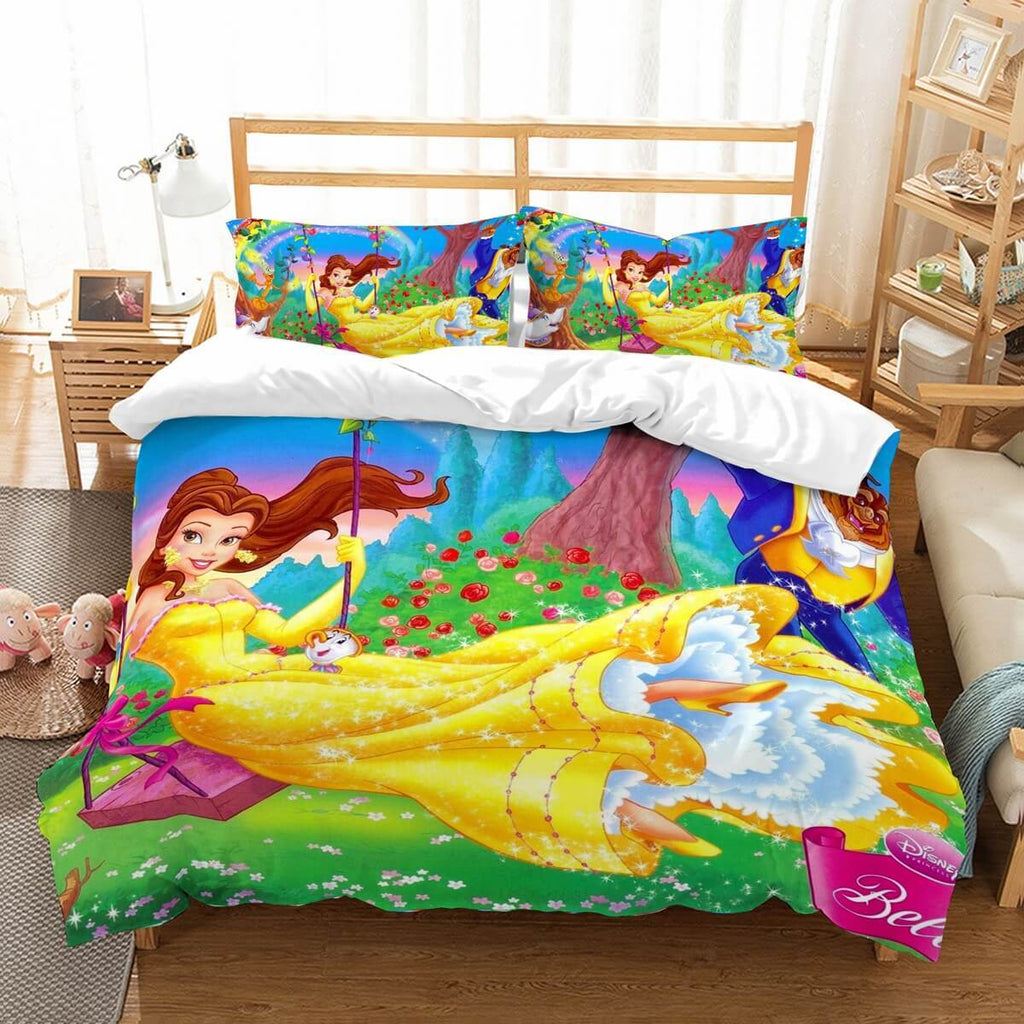 3D Customize Beauty And The Beast Bedding Set