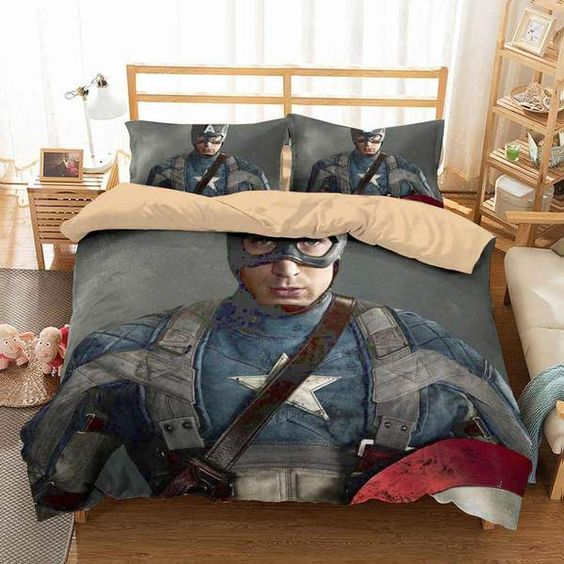 3D Customize Captain America Bedding Set