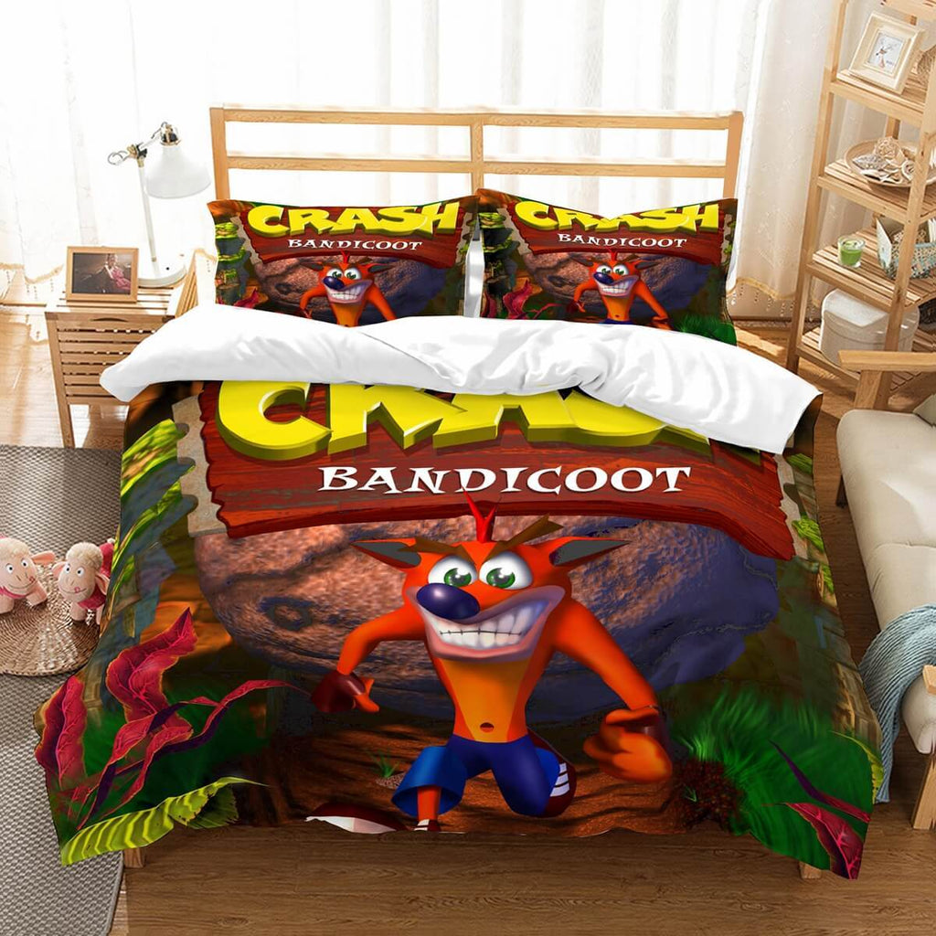 3D Customize Crash Bandicoot Bedding Set Duvet Cover Set Bedroom Set Bedlinen