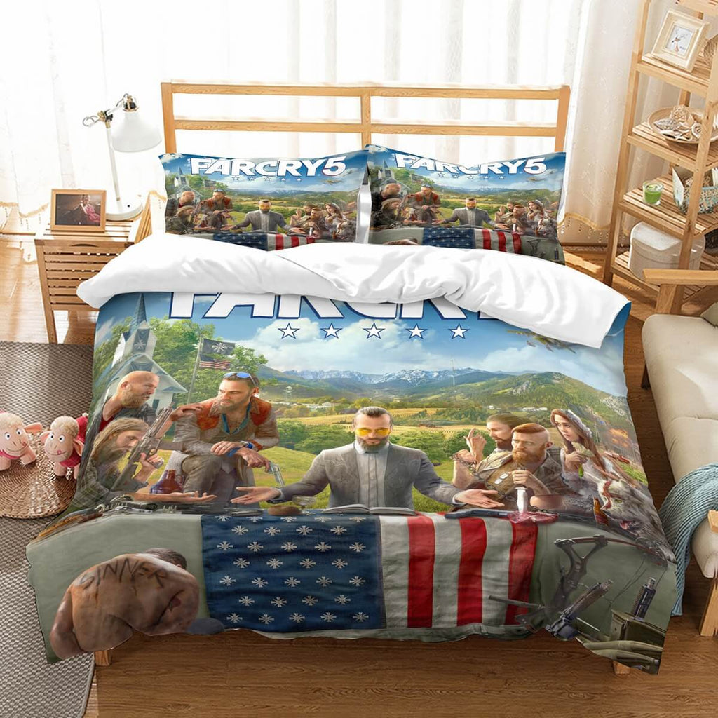 3D Customize Far Cry 5 Bedding Set Duvet Cover Set Bedroom Set Bedlinen