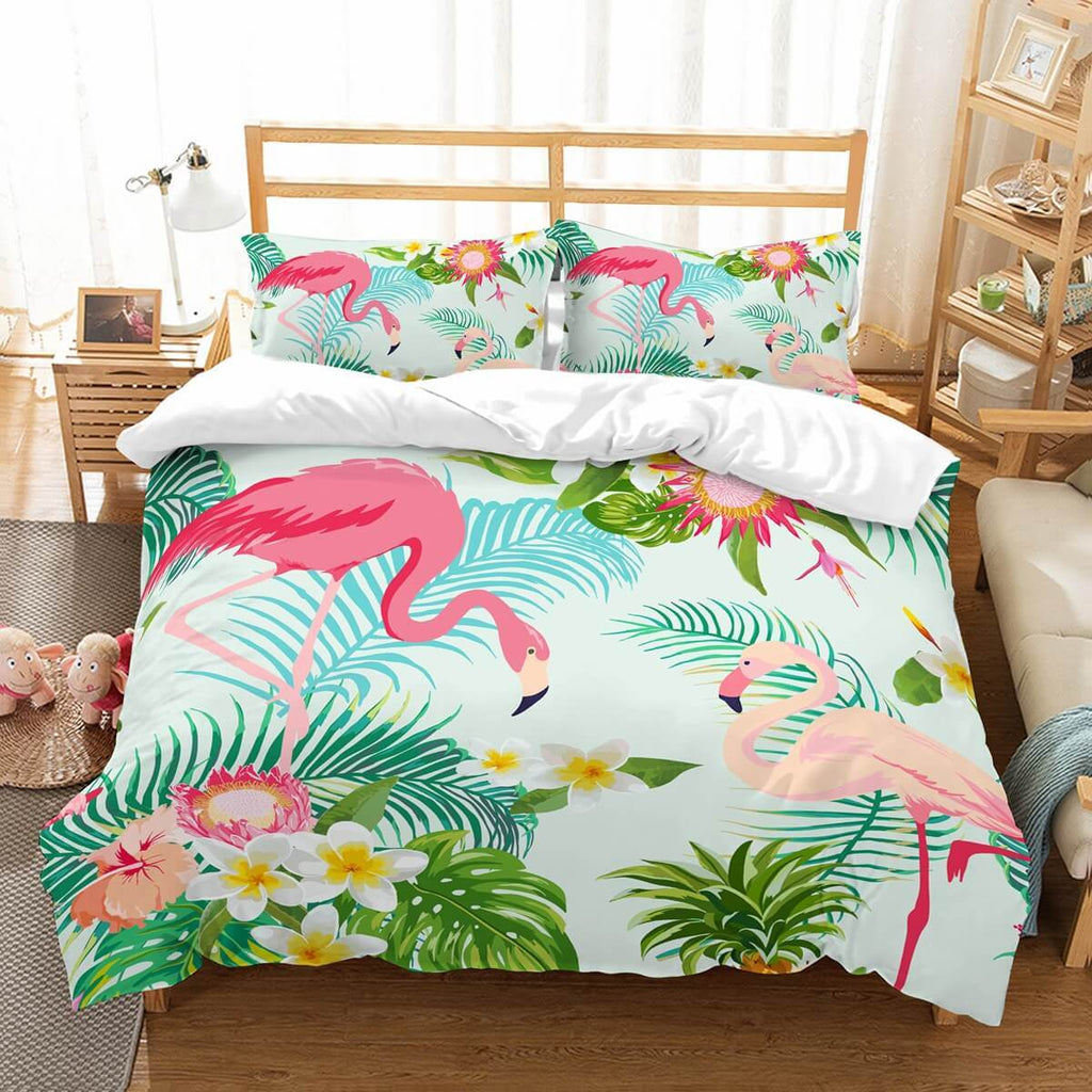 3D Customize Flamingo Bedding Set Duvet Cover Set Bedroom Set Bedlinen