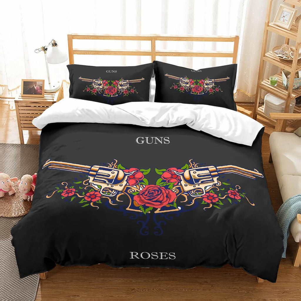 3D Customize Guns Roses Bedding Set Duvet Cover Set Bedroom Set Bedlinen