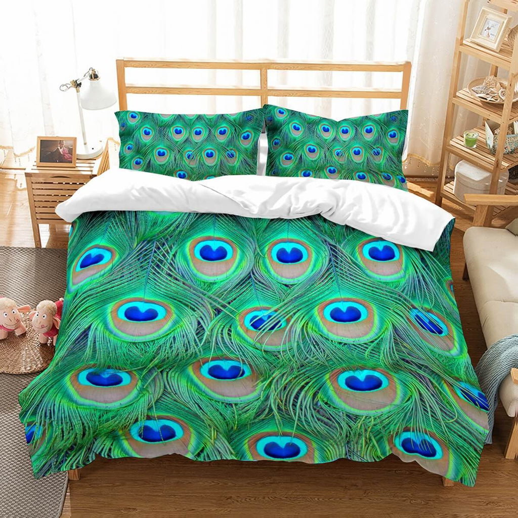 3D Customize Peacock Feathers Bedding Set 6