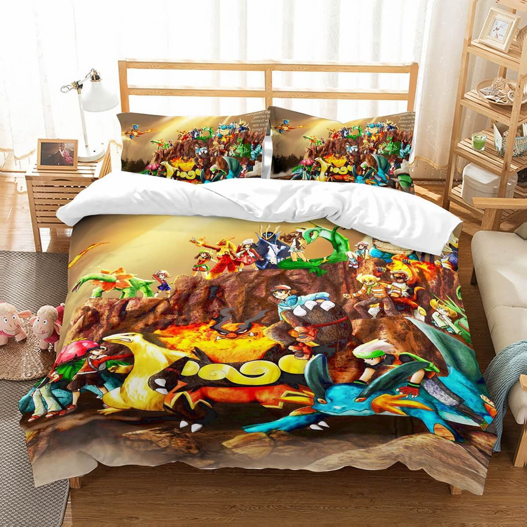 3D Customize Pokemon Bedding Set Duvet Cover Set Bedroom Set Bedlinen,