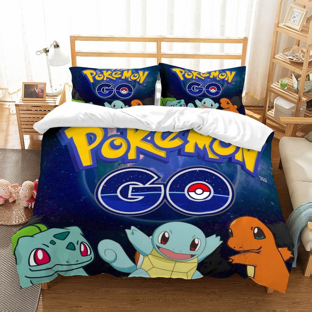 3D Customize Pokemon Go Bedding Set Duvet Cover Set Bedroom Set Bedlinen