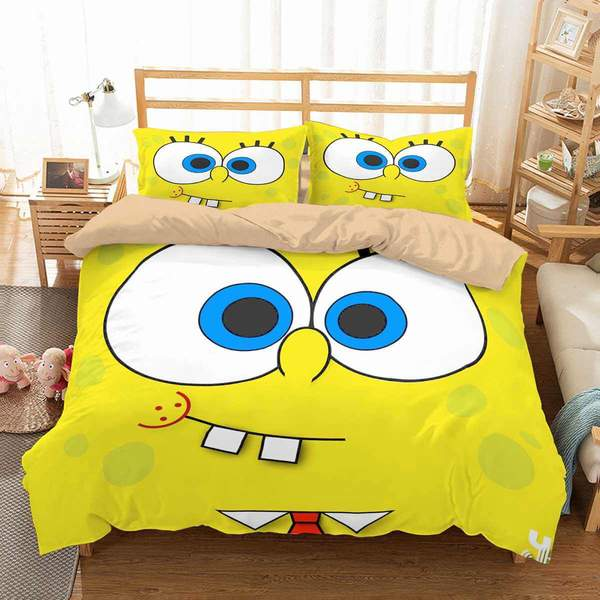 3D Customize SpongeBob SquarePants Bedding Set 1