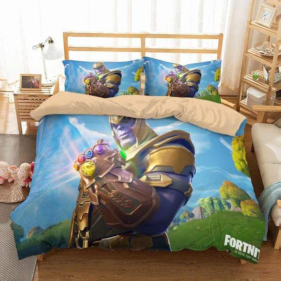 3D Customize Thanos In Fortnite Bedding Set