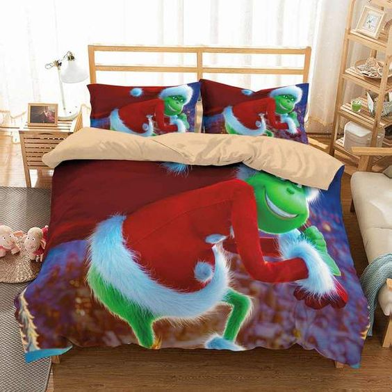 3D Customize The Grinch Bedding Set
