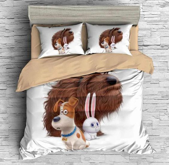 3D Customize The Secret Life of Pets Bedding Set