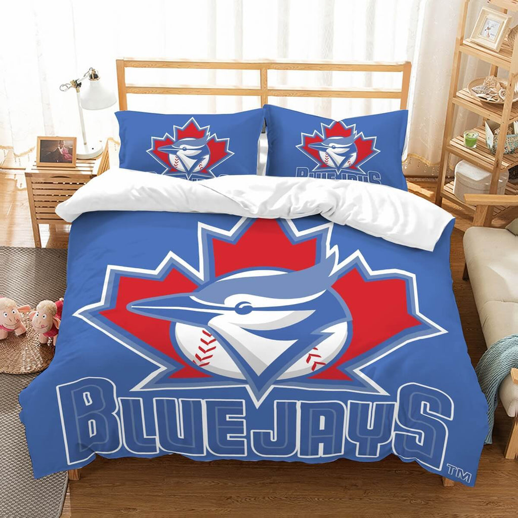 3D Customize Toronto Blue Jays Bedding Set Duvet Cover Set Bedroom Set Bedlinen