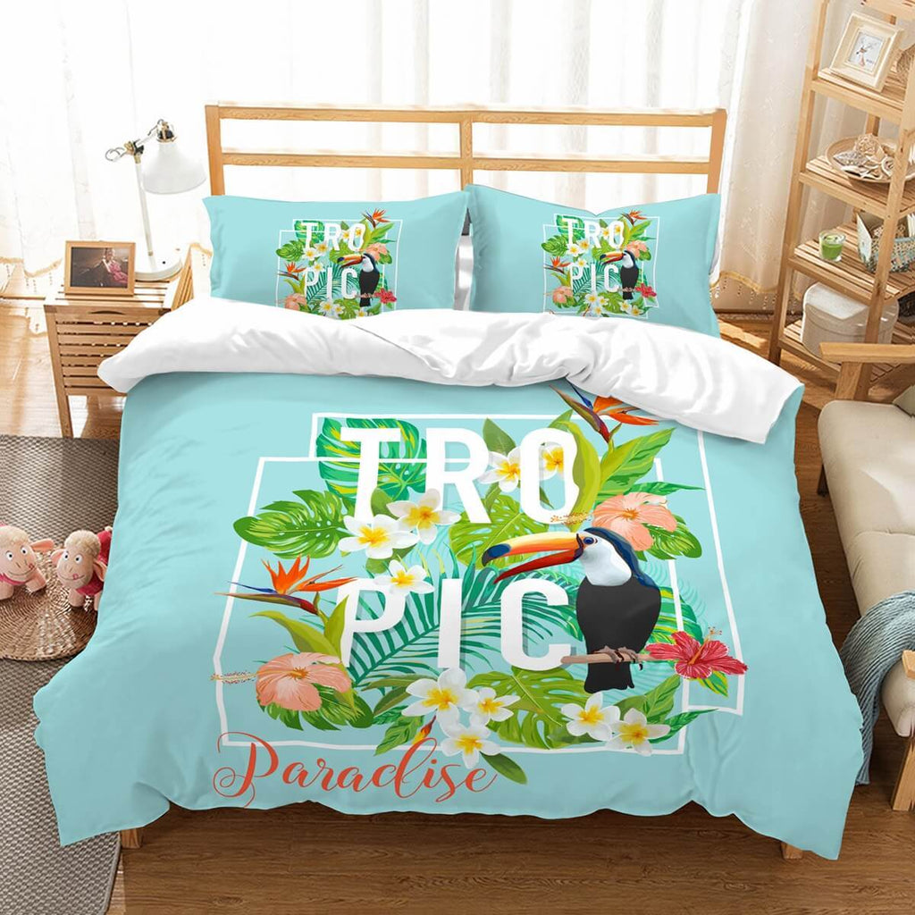 3D Customize Toucan Bedding Set Duvet Cover Set Bedroom Set Bedlinen,.