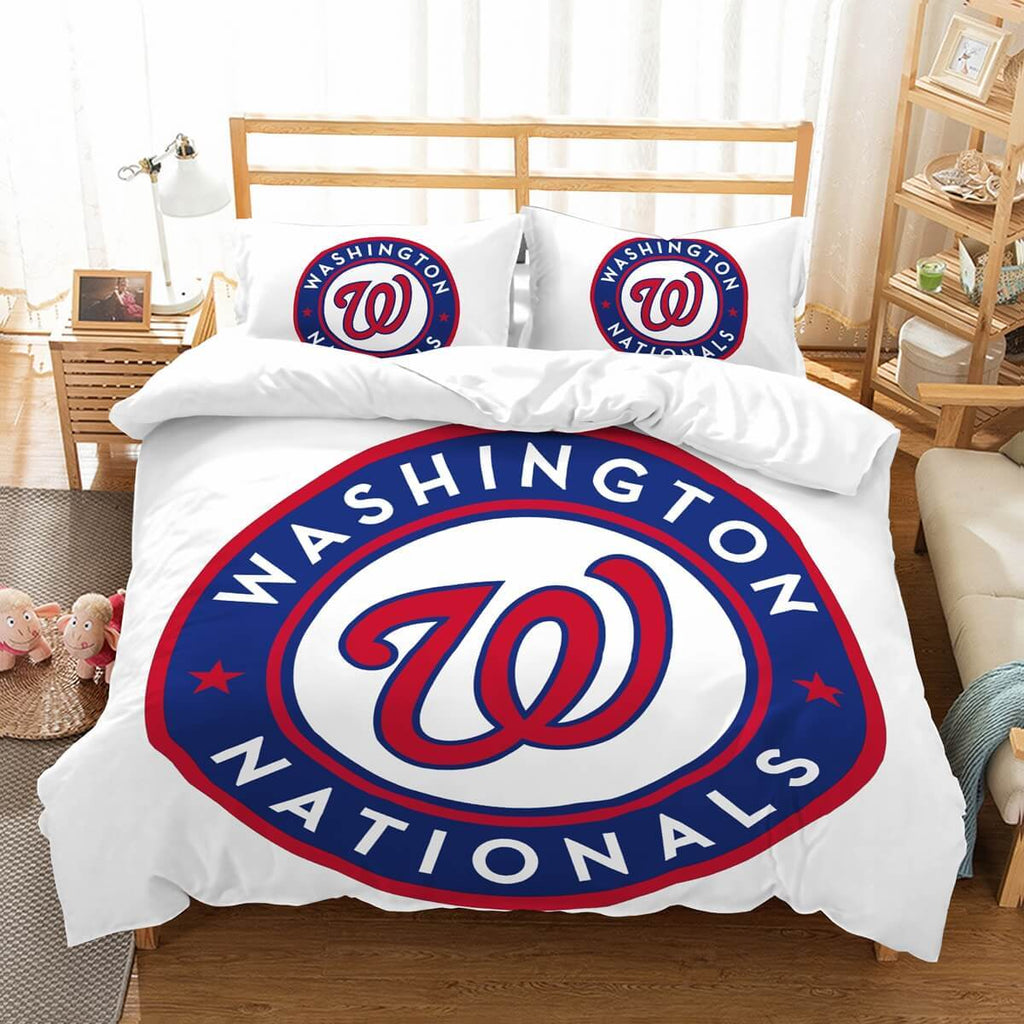 3D Customize Washington Nationals Bedding Set Duvet Cover Set Bedroom Set Bedlinen