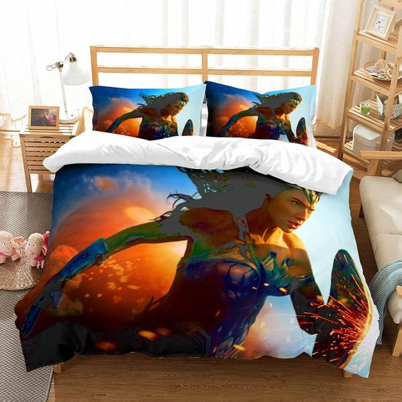 3D Customize Wonder Woman Bedding Set