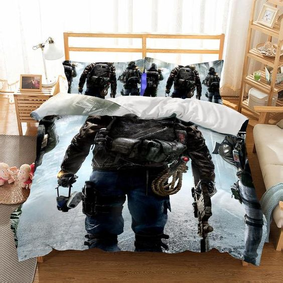 3D Game The Division Printed 2 Bedding Sets