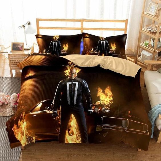 3D Marvel Agents of SHIELD 2017 Ghost Rider Printed Bedding Sets